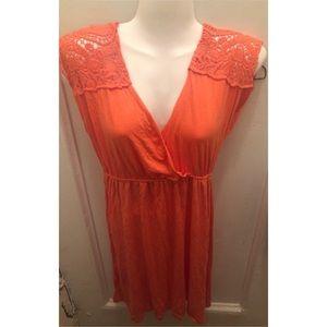 Mandee Orange Summer Dress L